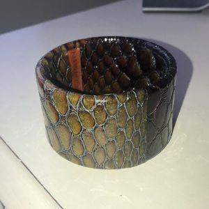 Brahmin leather cuff bracelet
